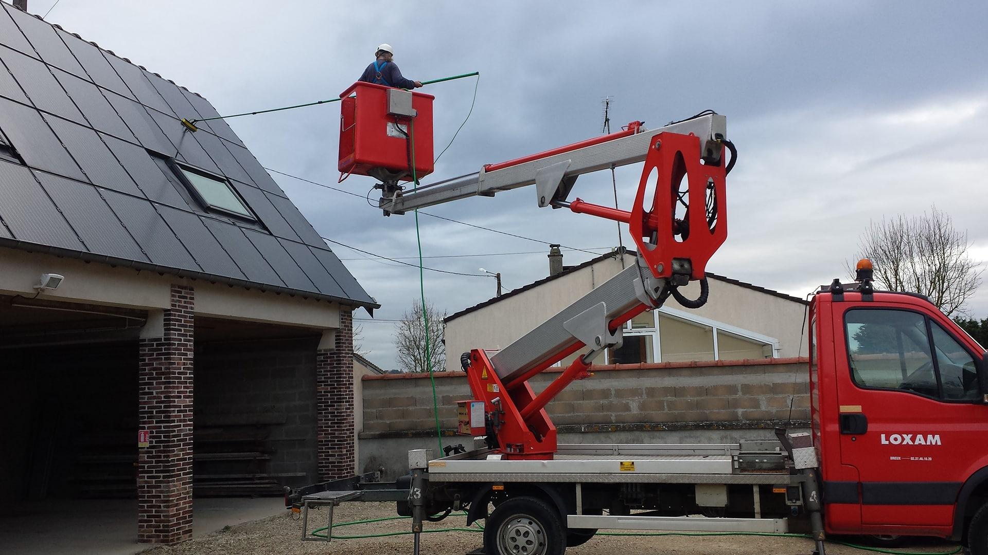 nettoyage des panneaux photovoltaïques