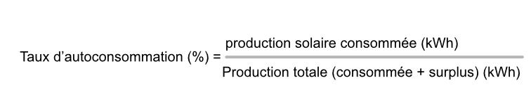 taux autoproduction photovoltaïque